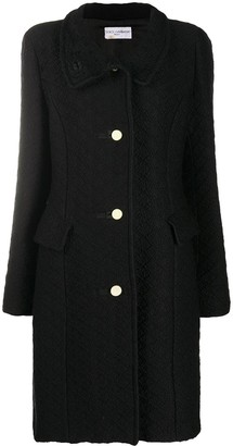 Dolce & Gabbana Pre-Owned 1990s Woven Knee-Length Coat