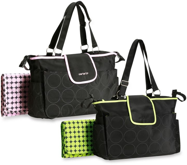 Carter's Out and About Tonal Dot Diaper Bag
