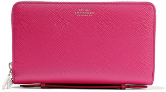 Smythson Textured-leather Continental Wallet