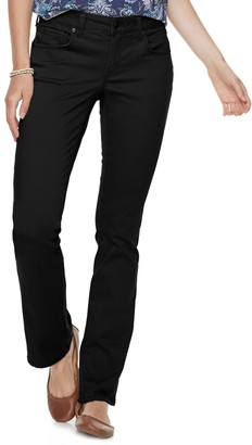 Sonoma Goods For Life Petite SONOMA Goods for Life Midrise Sateen Bootcut Pants