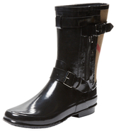 Burberry Checked Short Rain Boot