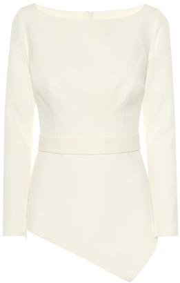 Safiyaa Romola asymmetric crepe blouse