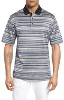 Bugatchi Stripe Mercerized Cotton Polo