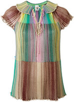 M Missoni glitter pleated top - women - Polyamide/Viscose/Metallic Fibre - 38