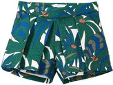 Little Marc Jacobs Printed Canvas Shorts (Toddler/Kid) - Green Beige-3A
