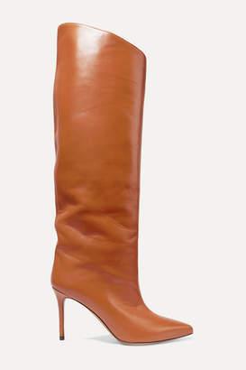 Alexandre Vauthier Alex Leather Knee Boots - Tan