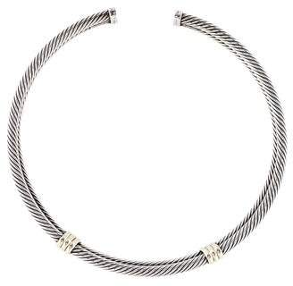 David Yurman Double Cable Collar Necklace