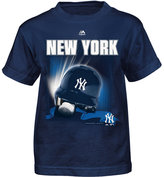 Majestic Little Boys' New York Yankees Kinetic Helmet T-Shirt