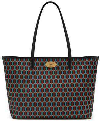 Mulberry Bayswater Tote Pale Slate Printed Nylon Octagon