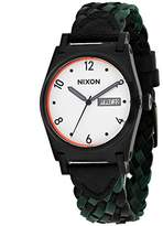 Nixon Women's Jane 38mm Green Leather Band Steel Case Quartz Watch A955-2357