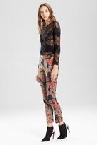 Josie Natori Flower Jacquard Pants