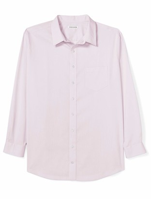 Amazon Essentials Men's Big & Tall Wrinkle-Resistant Long-Sleeve Solid Dress Shirt