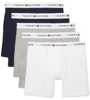 Tommy Hilfiger Men's 5-Pk. Cotton Classics Boxer Briefs