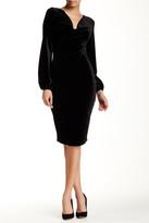 Alexia Admor Cowl Neck Cuff Sleeve Velvet Dress