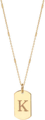 Chicco Zoe 14k Extra-Small Engraved Initial Dog Tag Necklace