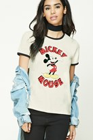 Forever 21 FOREVER 21+ Mickey Mouse Graphic Ringer Tee