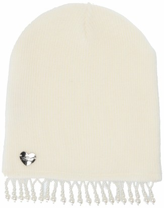 Betsey Johnson Women's Peek A Boo Pearl Beanie
