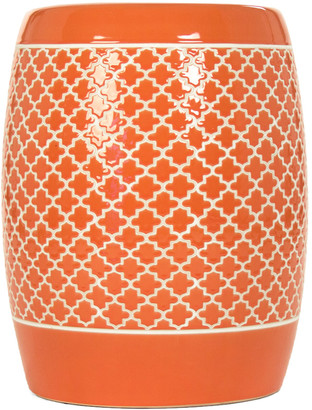 Zentique Gable Garden Stool Orange