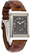 Jaeger-LeCoultre Reverso Duo Watch w/ Ostrich Strap