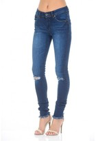 AX Paris Blue Fray Hem Jeans