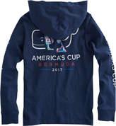Vineyard Vines Boys America's Cup Long-Sleeve Logo Hoodie Pocket T-Shirt