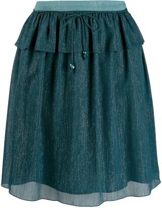 Kenzo Holiday Capsule metallized skirt