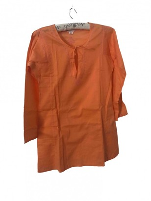Bonpoint Orange Cotton Dress for Women