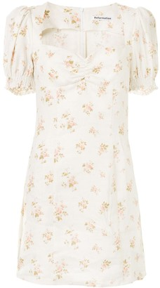 Reformation Gina floral-print mini-dress