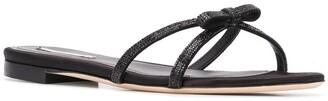 Marco De Vincenzo Rhinestone Bow Sandals