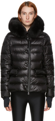MONCLER GRENOBLE Black Down Armonique Puffer Jacket
