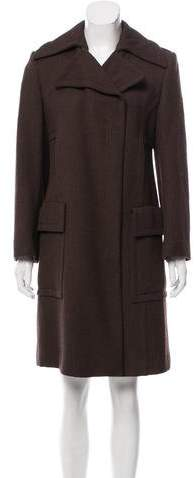 Gucci Wool Belt-Accented Coat