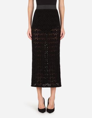 Dolce & Gabbana Lace-Effect Pencil Skirt