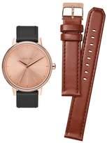 Nixon A1190-2780 Kensington Leather Pack Women's Watch Black (1 brown too) 37mm Stainless Steel