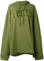 Puma front lace hoodie - women - Cotton/Polyester/Spandex/Elastane - S