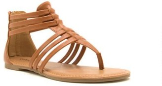 Qupid Archer Gladiator Sandal - Tan