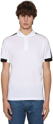 Prada Cotton Piquet Tricot Polo Shirt
