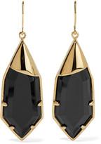 Noir Radiance gold-tone cubic zirconia earrings