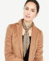 Ann Taylor Cheetah Silk Skinny Scarf