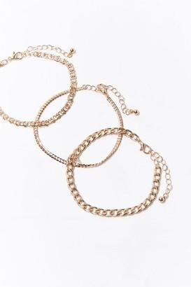 Forever 21 Curb Chain Bracelet Set