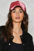 Nasty Gal nastygal Killin' It Softly Velvet Baseball Cap