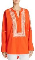 Natori Breeze Dolman Sleeve Embroidered Tunic