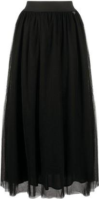 Twin-Set High-Waists Tulle Maxi Skirt