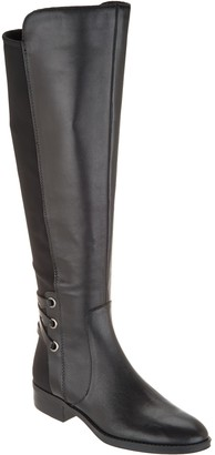 Vince Camuto Medium Calf Leather / Suede Tall Shaft Boots- Pauletta