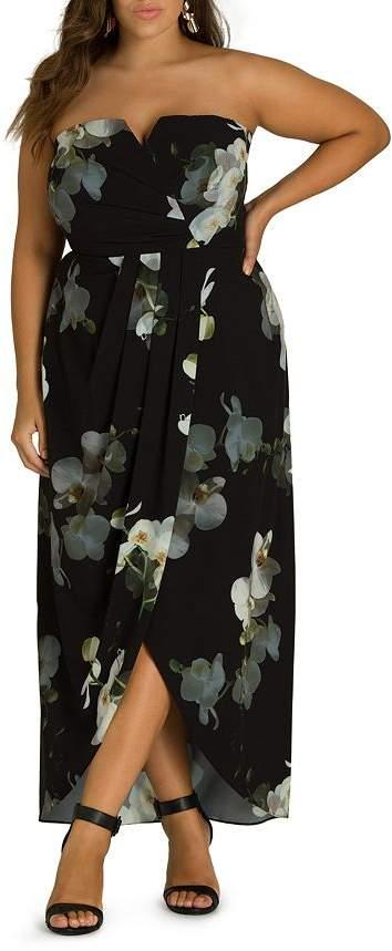 596f5c9372b Plus Size Strapless Maxi Dress - ShopStyle