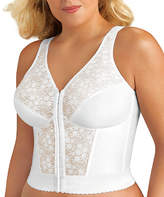 Exquisite Form White Wireless Longline Posture Bra - Plus Too