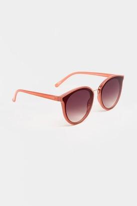 francesca's Chelsea Mirror Round Sunglasses - Mauve