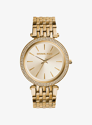 Michael Kors Darci Pave Gold-Tone Watch - Gold