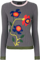 Roberto Collina ribbed floral sweater