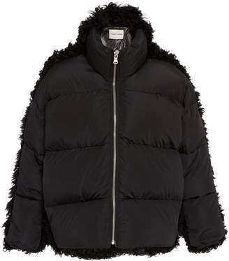 Sandy Liang Lorne Shearling-Trimmed Shell Puffer Jacket