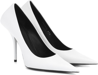 Balenciaga Square Knife leather pumps